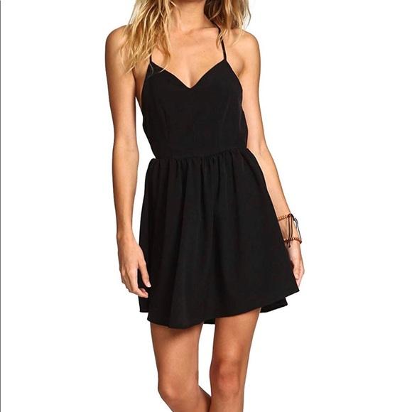 21fb81beea Shein Black Halter Open Back Black Dress, S. M_5b7306a45a9d21f999549553